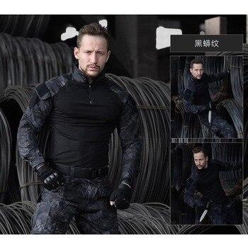 Táctico caza ropa de camuflaje uniforme militar Airsoft ropa ejército táctico Camisa + Pantalones con la rodilla almohadillas
