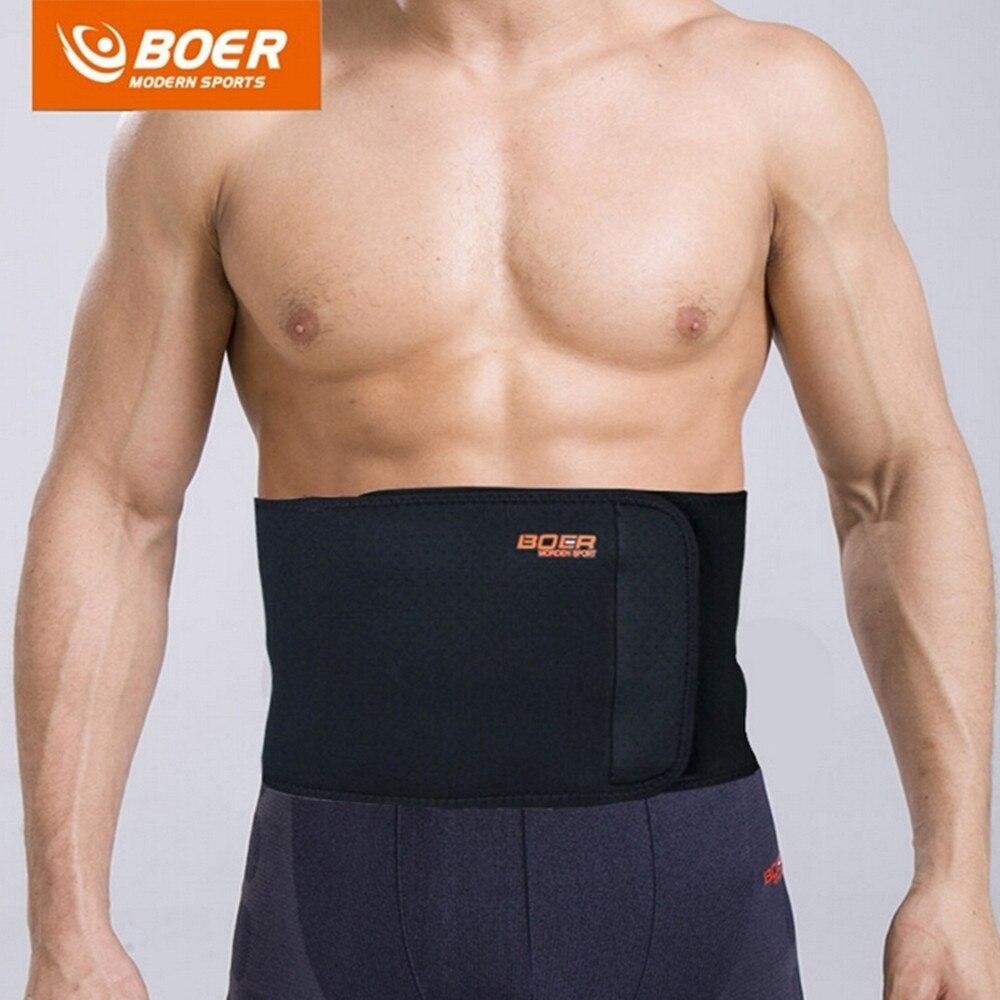 BOER Sport Atmungsaktive Verstellbare Taille Unterstützung Taille Zurück Gürtel Unterstützung Lenden Band Schutz Getriebe Wirbelsäule Unterstützung Gürtel