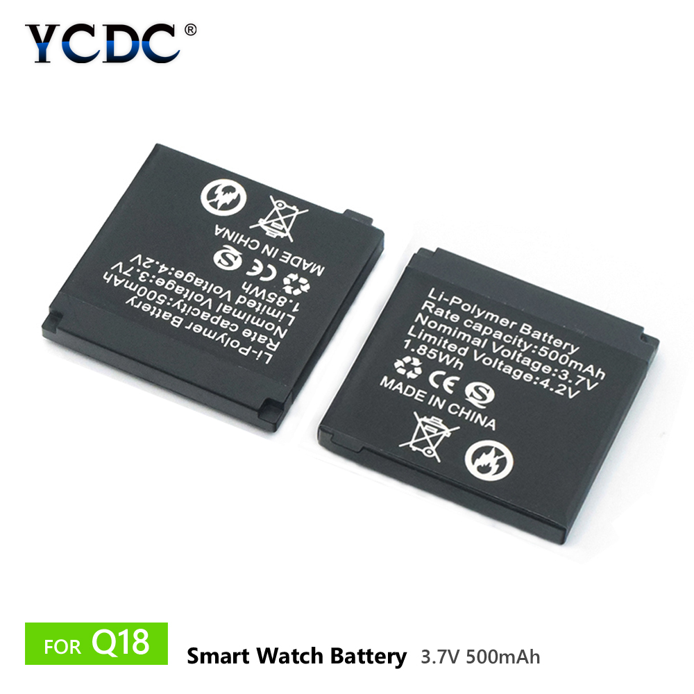 Buy Smart Watch For Q18 Li-ion Polymer Battery 500mAh 3.7V Rechargeable Lithium Batteries HIGH CAPACITY Spare Battery for $4.37 in AliExpress store