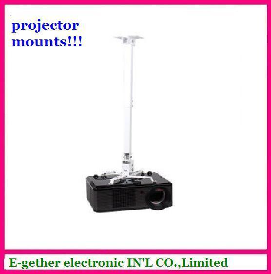 hot sale  for  white color  Projector mount--For LED Projector ,lcd projector Ceiling mount  by free HK post mail