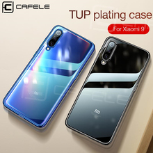 Cafele Crystal Clear Case Cover for Xiaomi 9 Transparent Soft TPU Plating Phone Ultra thin Smooth