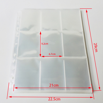 10 pages Choice,  9-Pocket Clear Series Card Album Page/Binder Protector Mtg TCG Pokemon Yu-Gi-Oh Card Binder Pages 6ep1334 2ba00 page 9
