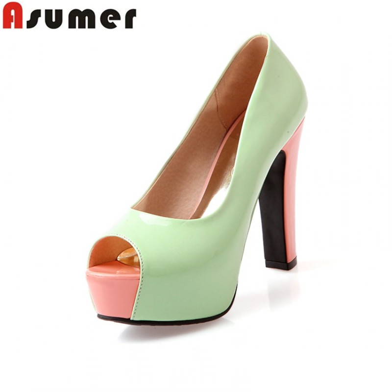 Compare Prices on Thick Heels Green- Online Shopping/Buy Low Price ...