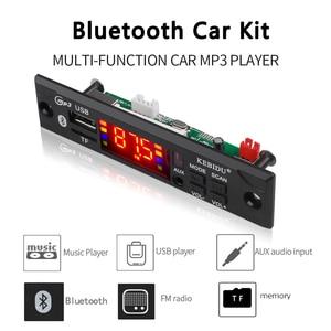 Image 5 - Kebidu سماعة لاسلكية تعمل بالبلوتوث محلل شفرة سمعي لوحة تركيبية سيارة مشغل MP3 WMA WAV AUX 3.5 مللي متر 12 فولت USB TF FM فك مجلس للسيارة