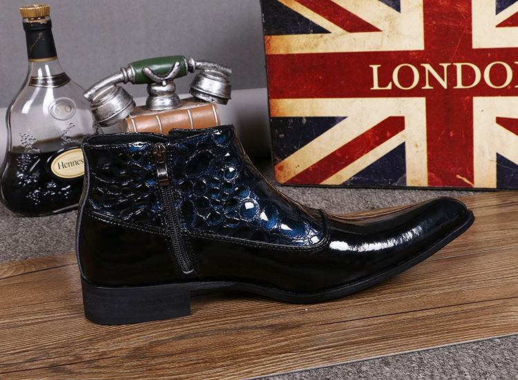 ee8958d785d 2017 Fashion Patent Leather Ankle Boots Men Winter Shoes Patchwork Simple  Men Boots High Top Botas Hombre Formal Zapatos Hombre on Aliexpress.com |  Alibaba ...