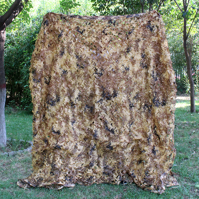 Desert Digital Camouflage Netting Outdoor Hunting Camo Net Camping Sun Shelter Car Cover Camouflage Net Hunting Blind Military