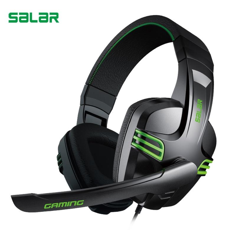 Salar KX101 juego auricular con cable estéreo Deep bass Auriculares auriculares con micrófono para computadora