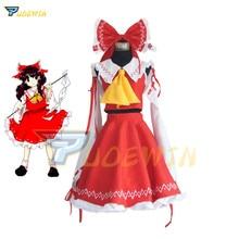 цена на Anime Touhou Project Cosplay Costume Hakurei Reimu Reimu Hakurei Lolita Dress Halloween Costume Free Shipping