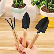3PCS/Set Mini Garden Shovels Claw Tool with Wooden Handles DIY Garden Hand Tools for Limited Areas Flower Pots Dropshipping