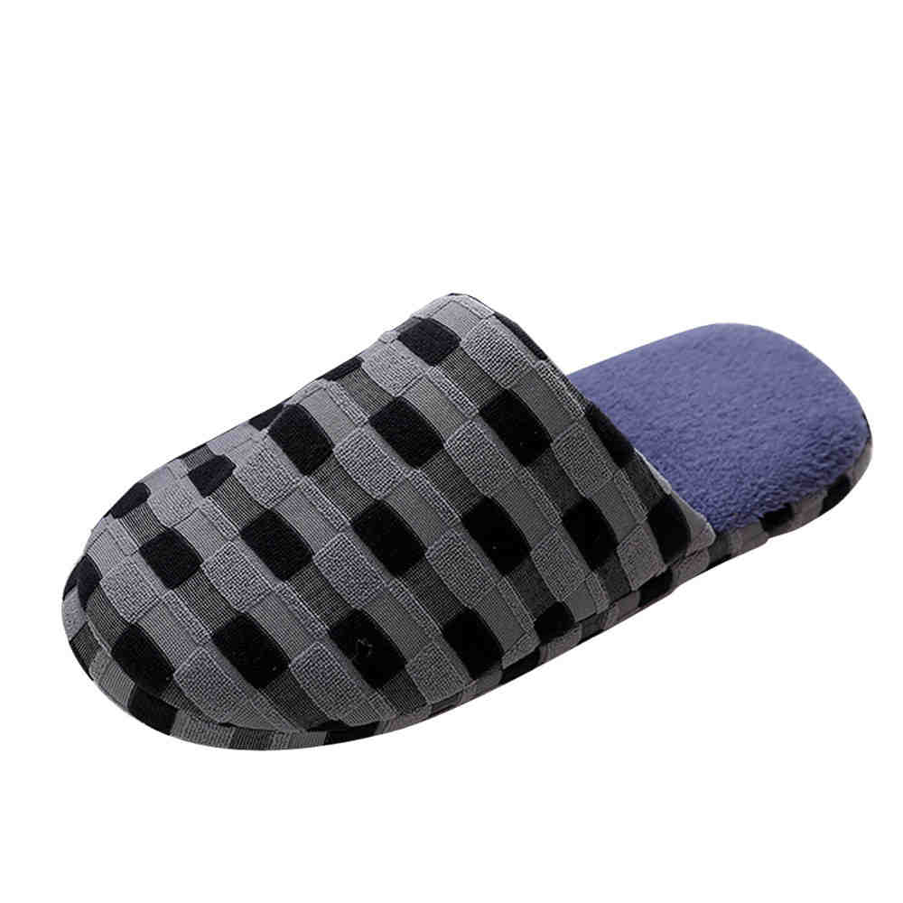 SAGACE Men retail House Slippers Shoes Indoor Warm Slippers Cotton Slippers Home Floor Slippers SIZE42-44 winter warm slippers men indoor shoes cotton pantoffels casual crocus clogs with fur fleece lining house floor slippers ks250