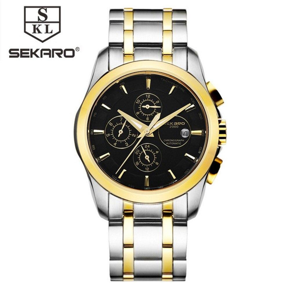 SEKARO Lujo Reloj Mecánico Automático Fecha Hombres Fecha - Relojes para hombres - foto 2