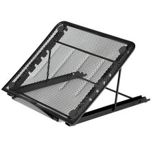 Mesh Ventilated Adjustable Laptop Stand for Laptop/Notebook /Tablet and more (Black)