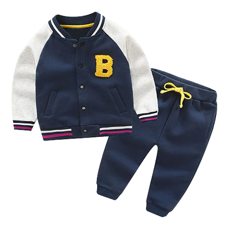 Baby Boy Clothes Spring Autumn Long Sleeve Letter Jacket + Casual Long Pants 2pc Suits Kids Boys Cothing Set Sport Tracksuit 2pcs set baby clothes set boy