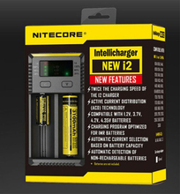 Marka Nitecore yeni i2 Intellicharger i2 Nitecore pil şarj cihazı için 16340 CR123A 10440 AA AAA 14500 18650 26650, 22650, 17670