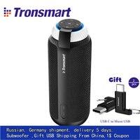 Tronsmart T6 Portable wireless Bluetooth Speaker Gift Mini Column Speakers subwoofer Soundbar Audio Receiver AUX big power vsM&J