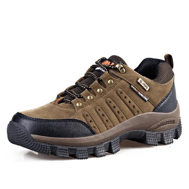 bdf5b692b19 US $38.88 |Big Size Mountain Climbing Shoes Outdoor Men Water Resistant  Trekking Shoes Hiking Shoes Boots Women Sneakers Camping Shoes-in Hiking  Shoes ...