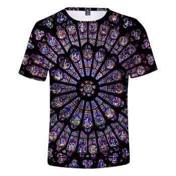 Notre Dame de Paris 3D TShirt Harajuku T-shirts men Clothes Short Sleeve Kpop Print Tops Tees Plus Size Street style