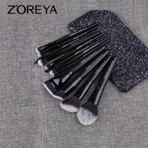 Image 2 - ZOREYA Make Up Brush Set 2/8/12pcs Delicate Makeup Brushes Powder Foundation Contour and Eye Brushes 2019 New Model