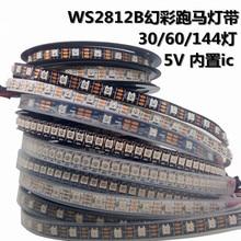 цена на 20m/lot Led Strip Individually Addressable Waterproof Ip65 Ip67 5050 Rgb 30 60 144 Led/m 5v Ws2811 Ws2812 Ws2812b Led Strip