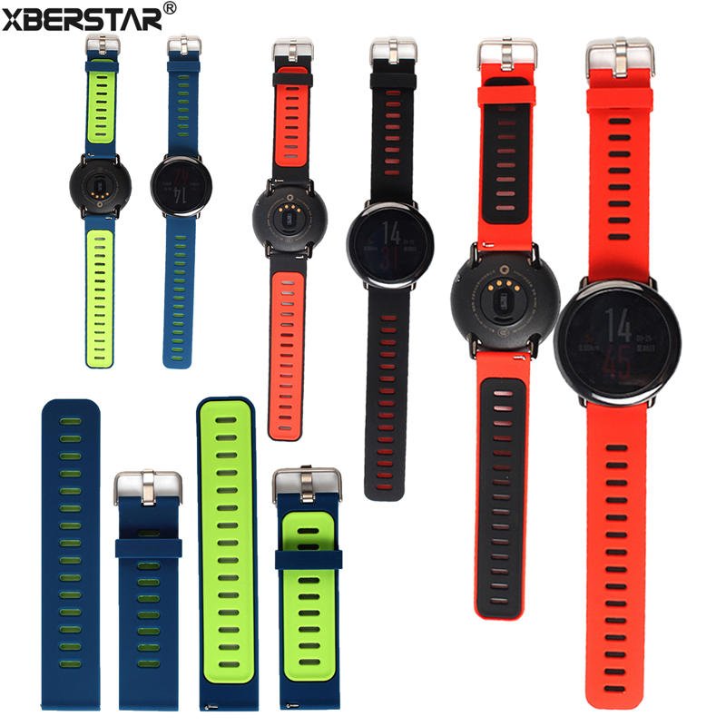 Replacement Silicone Watch Band Bracelet  Wrist Strap for Xiaomi Huami AMAZFIT Strap 22cm Watchbands Sports Smart Watch