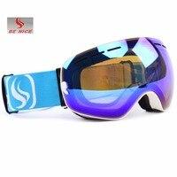 Outdoor Sports Ski Snowboard Goggles Double Lens Anti Fog UV Big Spherical Professional Ski Glass Unisex