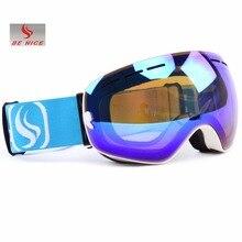 Benice Brand Ski Snowboard Goggles Double Lens Anti Fog UV Spherical Professional Ski Glasses Men Multicolor