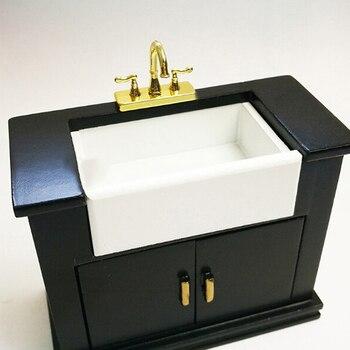 1Pcs 합금 욕조 수도꼭지 시뮬레이션 워터 탭 모델 가구 완구 인형 집 장식 1/12 Dollhouse Miniature Acc