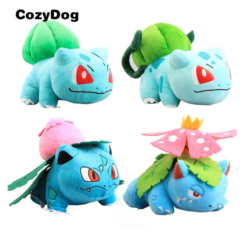 4 Style Bulbasaur Ivysaur Venusaur Plush Stuffed Toy Doll Evolutions Buabasaur Toys For Children Gift