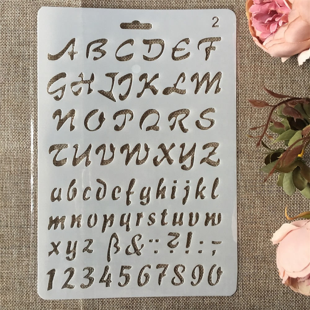 New 26cm Letters Alphabet DIY Craft Layering Stencils Painting Scrapbooking Stamping Embossing Album Paper Card Template