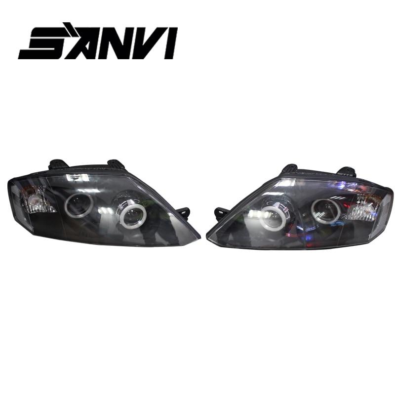 САНВИ фара для Хундай купе с Hi-низкий Луч проектора объектив Энгель глаза гало фары