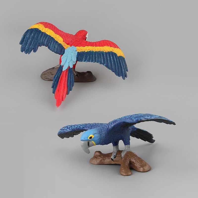 6 estilos de Aves Selvagens de Ação & Toy Figura Modelo Animal Simulação PVC Collectible Boneca Figura Coleção Para Kid Presente Das Crianças