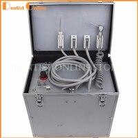 Переносная стоматологическая установка с испытание на устойчивость к высокой и низкой Скорость hp трубы, 3 шприц, воздушный компрессор, буты