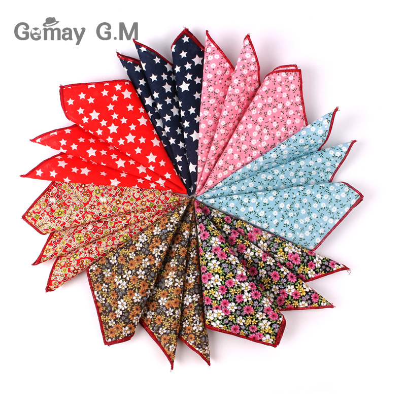 Floral Men Pocket Square For Gift Vintage Hankies Wedding Pocket Towel Handkerchief For Men Suit Chest Towel 25 X 25 Cm