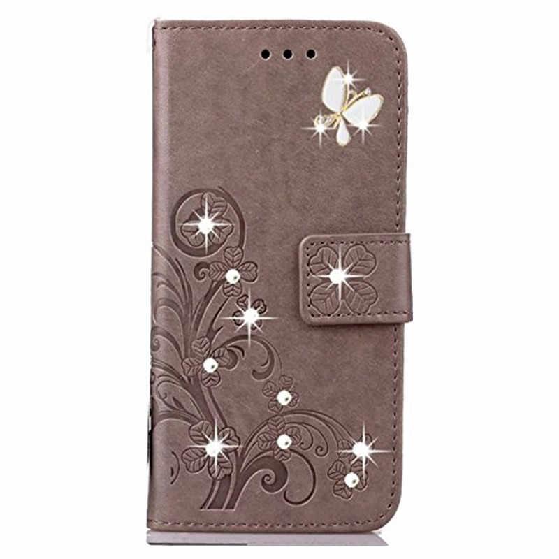 Y5 Y6 Y9 Y7 Başbakan 2018 Bling Cüzdan Deri Flip telefon kılıfı için Huawei Onur 7a pro 7c P20 Pro Mate 9 10 lite P Akıllı Kapak