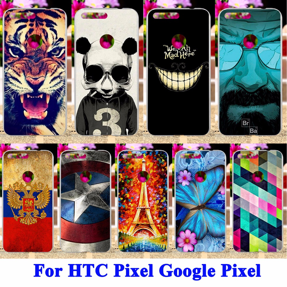 AKABEILA Durable Cell Phone Case Covers For HTC Nexus Sailfish HTC Pixel Google Pixel Nexus S1 Panda Tiger Pained Shell Hood