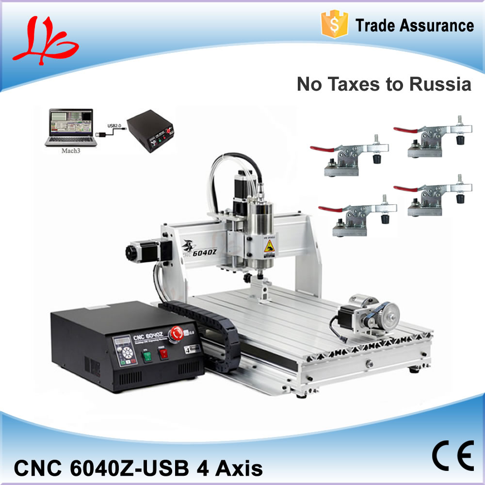 Russia free Ship & Tax! LY USB CNC Router 6040, 1.5kw water cooled spindle, 4 axes Drilling Milling machine, Mach 3 manual cnc router 6040z s 800w spindle water cooled engraving drilling milling machine free tax to eu