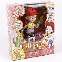 Toy Story Jessie Le Yodel Cowgirl Parler Poupée avec Fil Cheveux PVC Action Figure Collection Modèle Jouet 30 cm