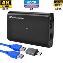 цена на Y&H Game Capture HD 1080p 60fps HDMI to USB3.0 Video Record for PS4 Xbox One Nintendo Switch,Twitch FaceBook Youtube Live Stream