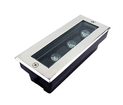 Us 5100 3x1 W Led Underground Pochowany Oświetlenie Led Lampy Led Lampy Projektu Dc24v Lub Ac85 265 V Ip68 Taras światło Wpuszczone Doprowadziły