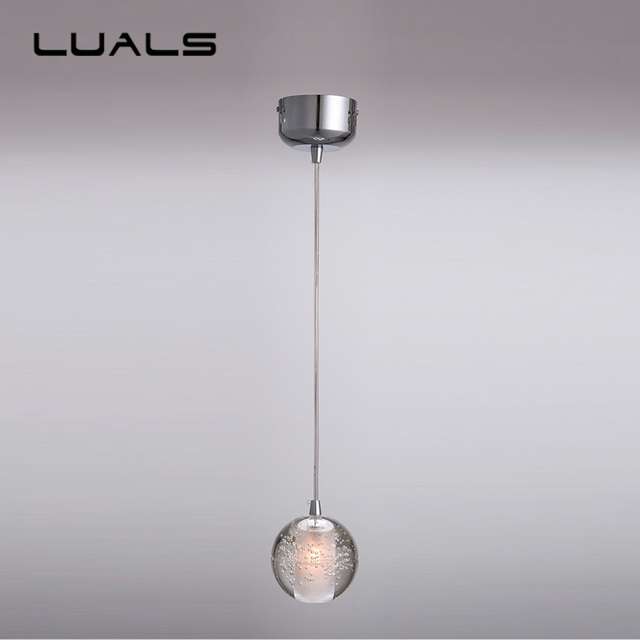 Modern led pendant lamp contracted crystal ball pendant lights modern led pendant lamp contracted crystal ball pendant lights restaurant coffee shop personality art deco lighting aloadofball Images