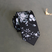 Men Polyester Corbatas Flower Printed Bridegroom Fashion New Corbata Vestidos Ties Formal Business Floral 6cm Neckties
