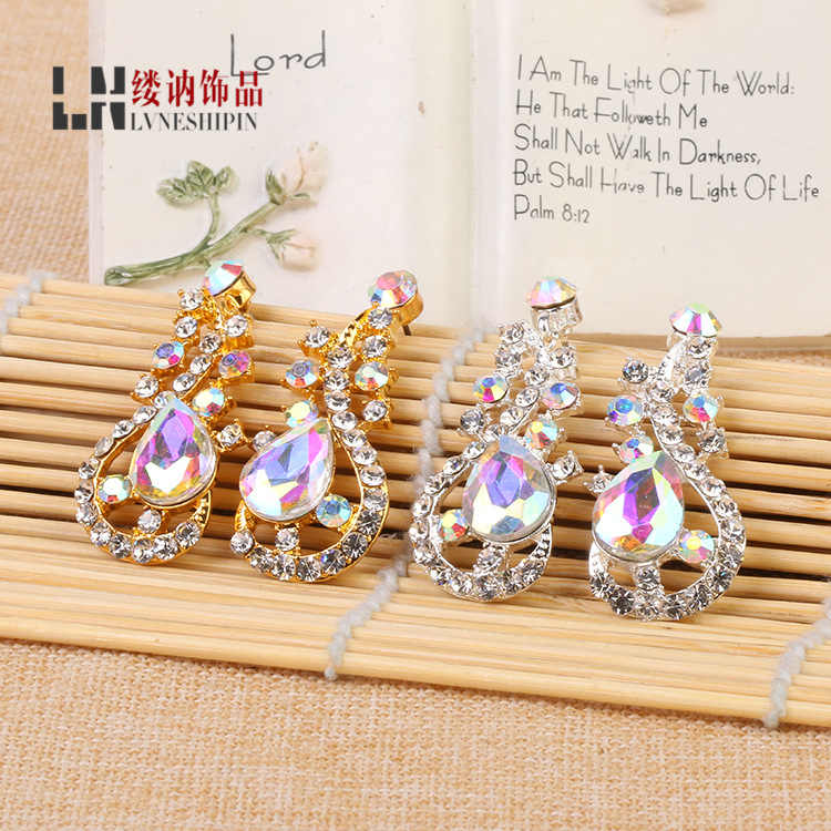 2016 Trendy Brincos Earings European Bride Exaggerated Luxury Long Earrings Factory