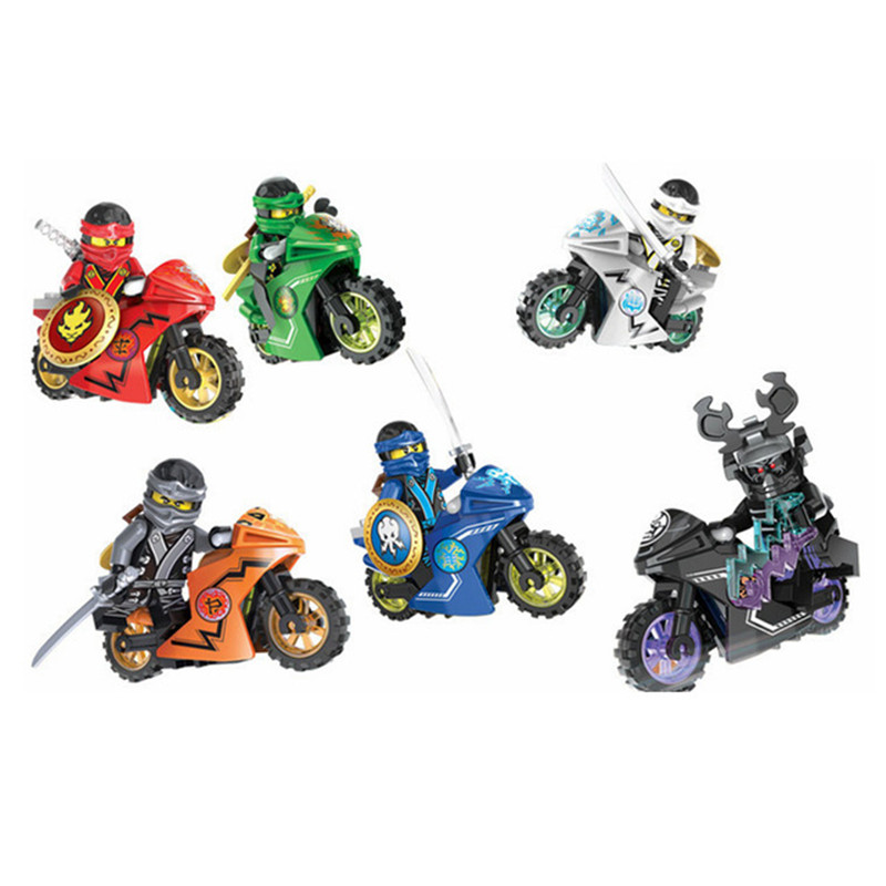 258A Hot Ninja Motorcycle Building Blocks Bricks toys Compatible legoINGly Ninjagoed Ninja for kids gifts 10018-10025 2018 hot ninjago building blocks toys compatible legoingly ninja master wu nya mini bricks figures for kids gifts free shipping
