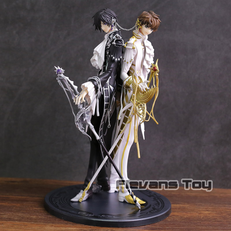 CLAMP Works in Code Geass Lelouch vs Suzaku PVC Figure Collectible Model Toy code geass lelouch of the rebellion beach ball c c anime sexy pvc action figure collectible model toy l1386