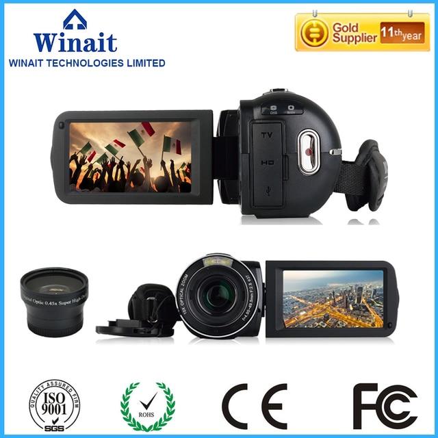 "High Quality Full HD 1080P Digital Video Camera 24MP 120x Digital Zoom 10x optical mini camcorder with 3"" TFT rotating screen"