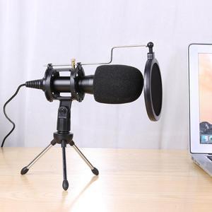 Image 4 - ALLOYSEED micrófono USB condensador de mano con cable, con soporte plegable, parabrisas para chat de PC, 170x32x32mm