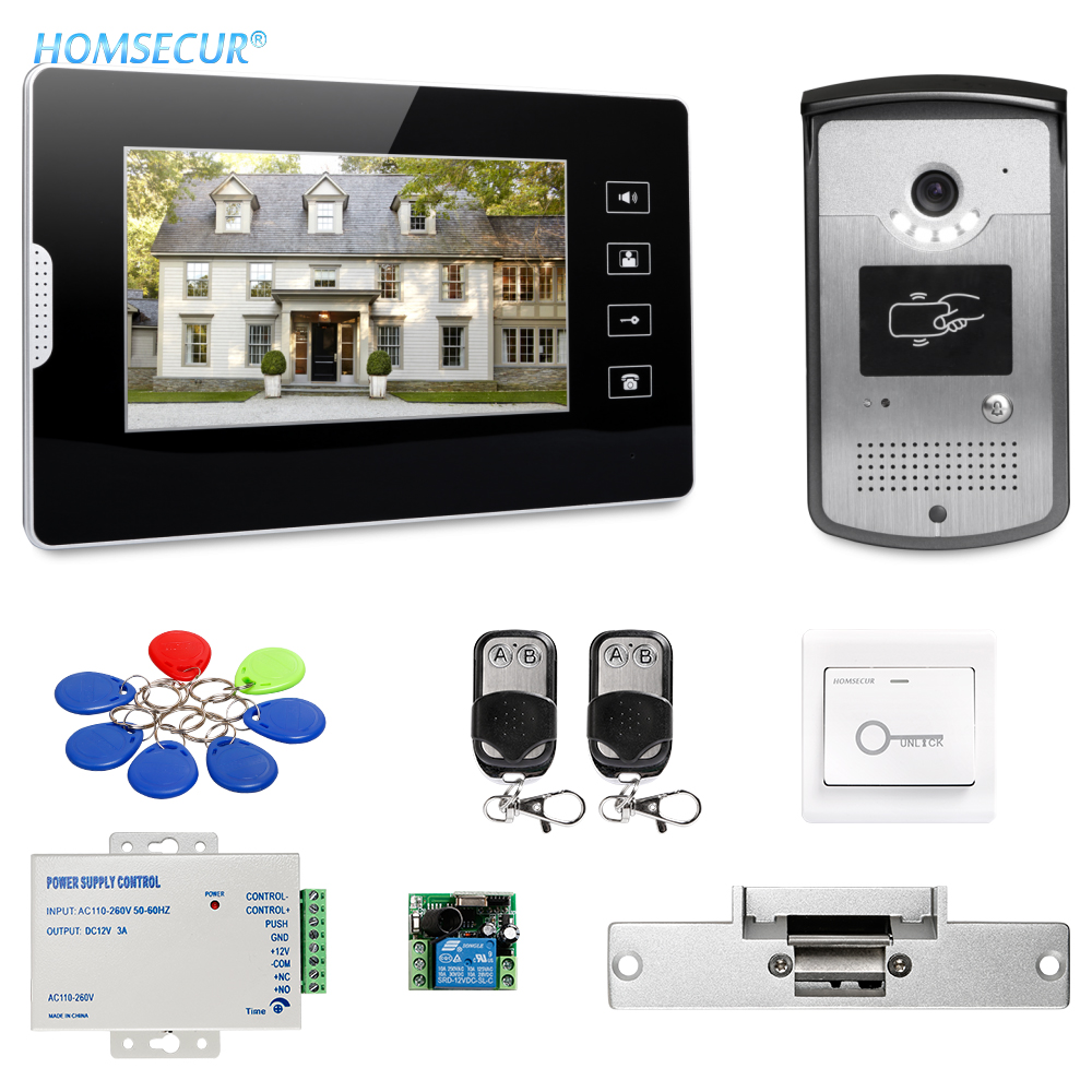 HOMSECUR 7inch Video Door Entry Security Intercom with Touch Panel Monitor for Apartment XM704 + XC001HOMSECUR 7inch Video Door Entry Security Intercom with Touch Panel Monitor for Apartment XM704 + XC001