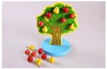 Montessori Apple Fruits Arbol Activités Jeu D'apprentissage Éducation Préscolaire Ensemble Pratique Outils BRICOLAGE Matériaux Jouet Cadeaux