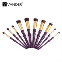 New 10Pcs Professional Gourd Handle Makeup Brushes Set Contour Powder Eyeshadow Lip Blush Foundation Kabuki Brush