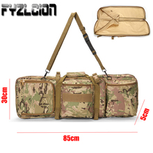 Tactical 85cm Dual Rifle Case Gun Bag for M4 Airgun Air Hunting Nylon Double Pack Military Carrying Shoulder Pouch